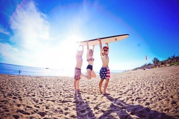 surfing at Bang Beach