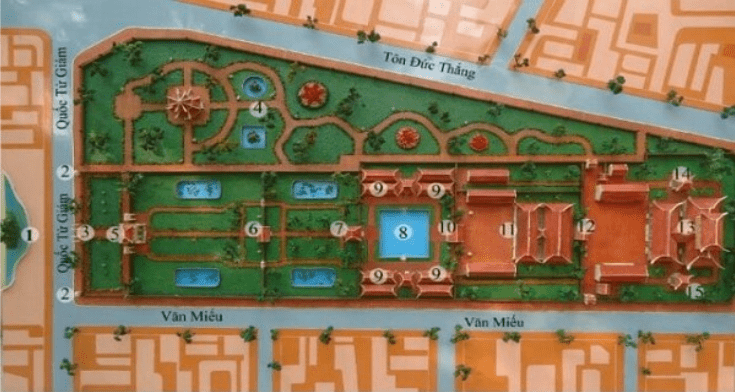 Everything you need to know when visiting the Temple of Literature in Hanoi - Map