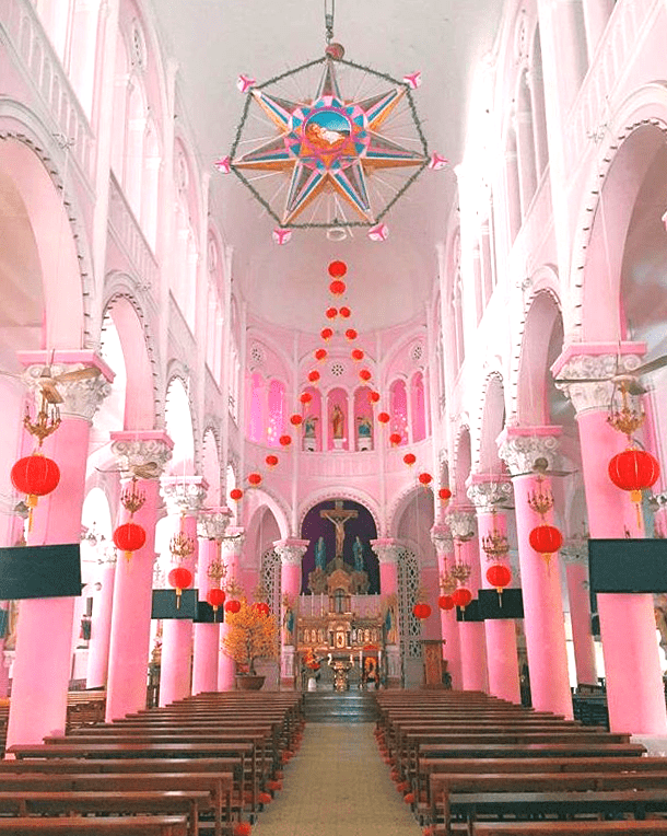 Tan Dinh Church in Ho Chi Minh City - The Pink Church - The Inside